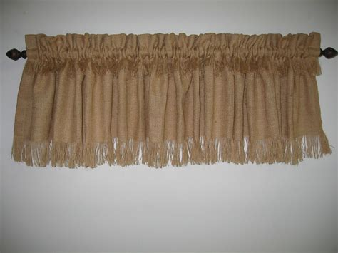 Curtain stunning burlap valance window treatments ruffled burlap valance burlap valance
