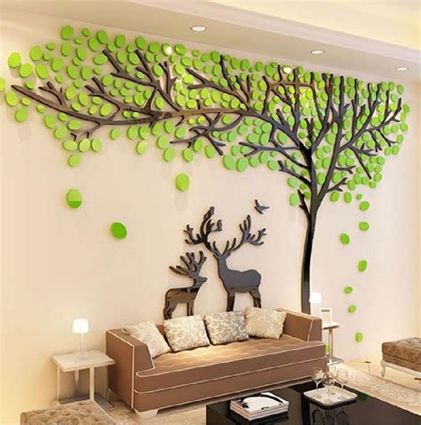elk trees  stereo wall stickers living room sofa tv