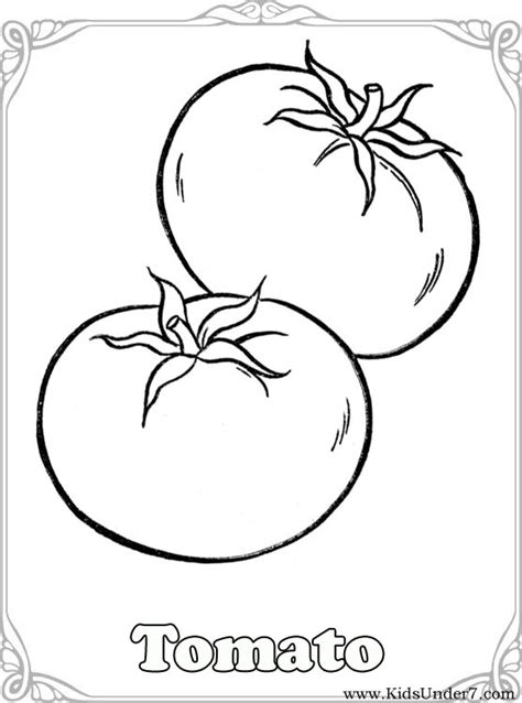 free coloring pages of vegetables