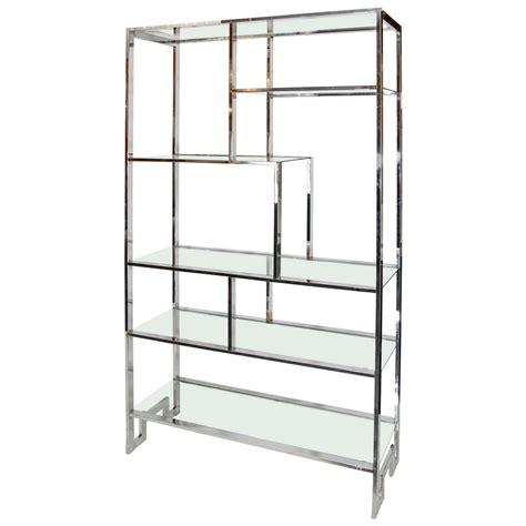 etagere chrom milo baughman chrome etagere at 1stdibs