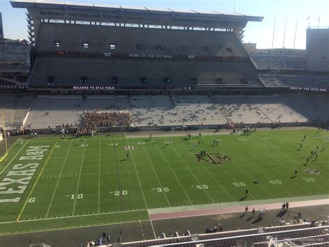 kyle field visitor section kyle field section 309 rateyourseats com