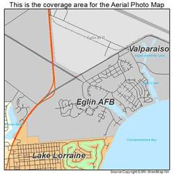aerial photography map of eglin afb fl florida