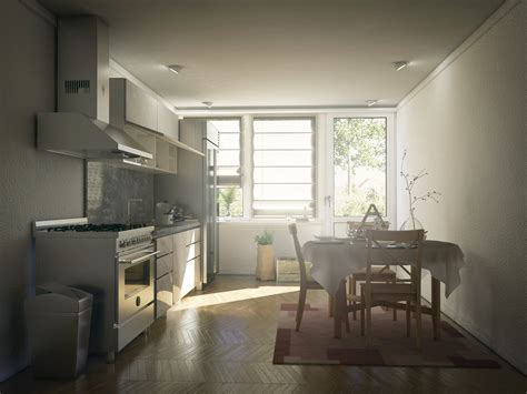 Vray Interior Render by Kitchen Render Cinema 4d Vray Interior By Externible On