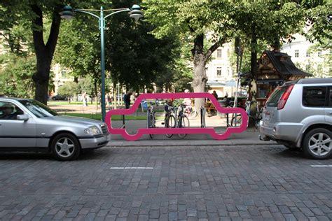 cyclehoop install five car bike ports in world design