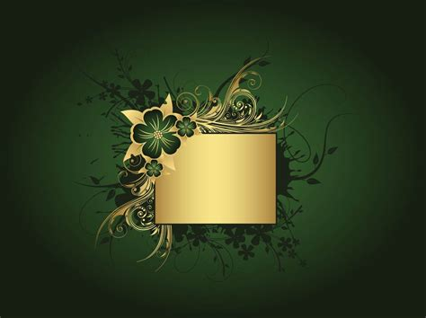 wallpaper green gold green and gold background