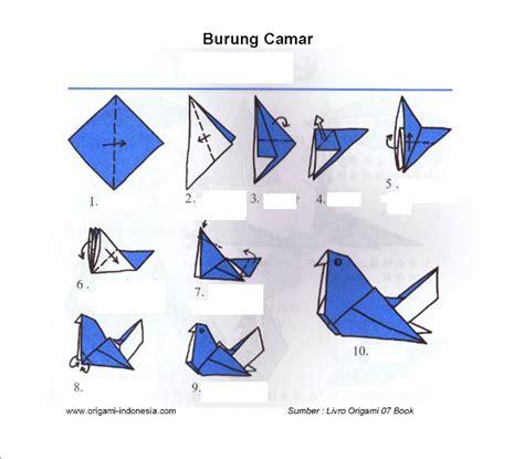 cara buat origami burung yang mudah cara membuat origami lipatan kertas burung camar anak