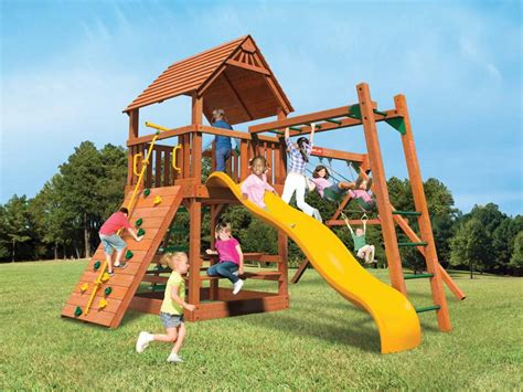 swing sets michigan out back casual living and fence