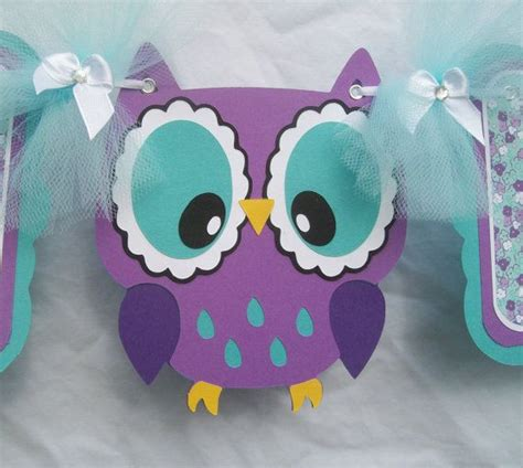 Purple Baby Shower Banner by Purple Owl Baby Shower Banner Its A Banner Purple