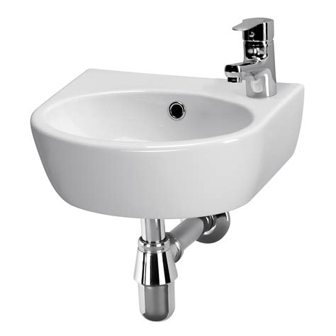 Compact Bathroom Sink Modern Bathroom Cloakroom Ceramic Wash Basin Sink Compact Small Wall Mounted Ebay