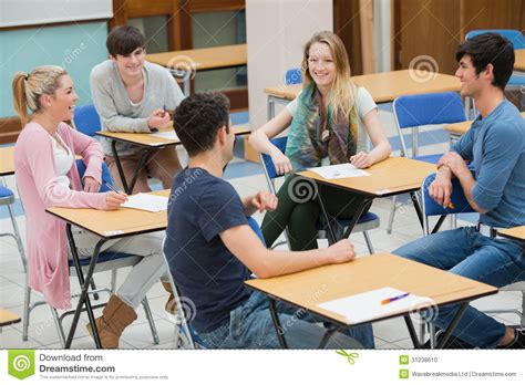 classroom layout for talkative students chatting students in the classroom stock photo image of