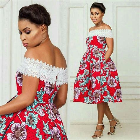 short ankara gowns ankara and lace combination short gowns styles for ladies