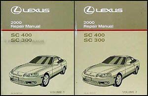 free online auto service manuals 2000 lexus sc electronic toll collection 2000 lexus sc 300 400 repair manual 2 volume set sc300 sc400 shop service oem ebay