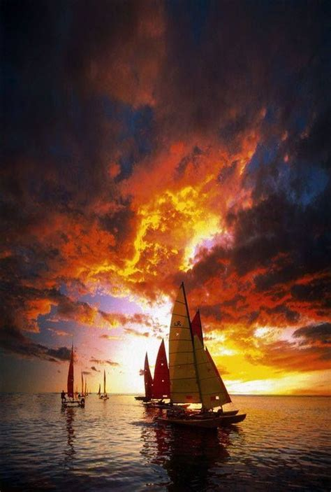 Late Sunset Sail Boat Sunset 1000 Images About Sunset On