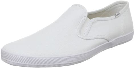 mens white canvas sneakers keds mens chion slip on canvas sneaker in white for