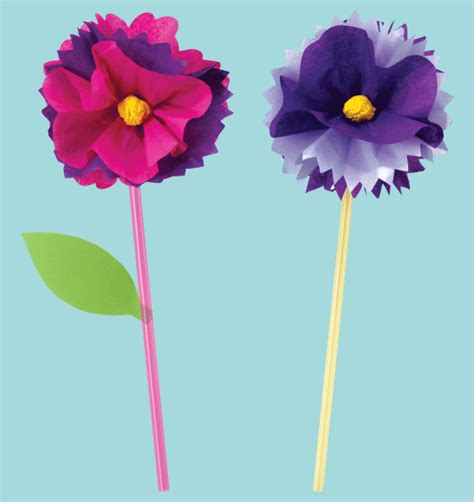 Paper Flower Craft For - craft activity paper flowers priddy books