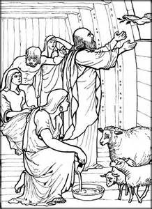 noah s family coloring page gallery