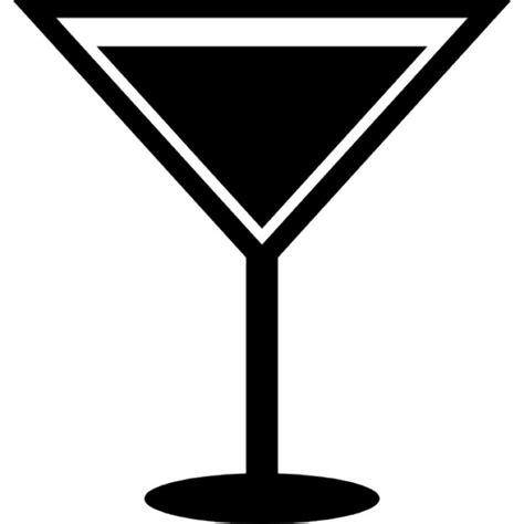 martini shaped drink elegant glass of triangular shape full of liquid