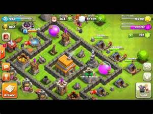 Clash of clans town hall level 5 farming defense layout doovi