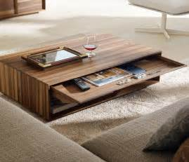 awesome solid wood modern coffee table design in living