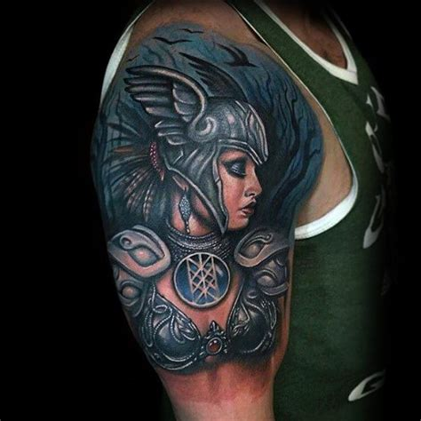 norse valkyrie tattoo 60 valkyrie designs for norse mythology ink ideas