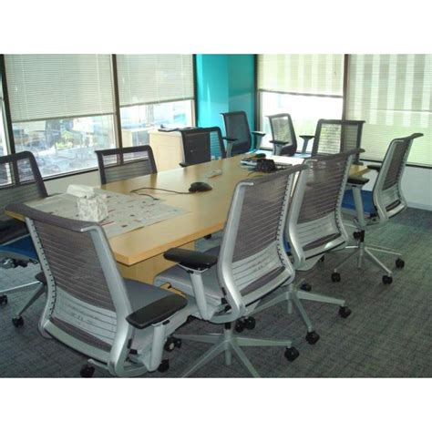 Steelcase Conference Table Steelcase Used Wood Veneer 8ft Conference Table Maple National Office Interiors And Liquidators