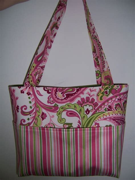 no pattern tote bag pocket tote bag pdf sewing pattern 4 sizes to by