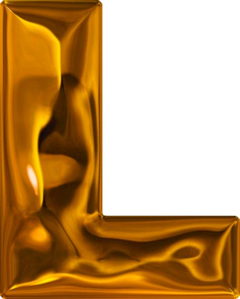 L In The by Presentation Alphabets Lumpy Gold Letter L