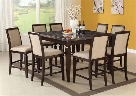 Acme Agatha 7pc White Marble Top Rectangular Dining Room Set In Sets 7 Pc Image Acme Agatha 9pc Black Marble Top Counter Height Dining Room Set In Espresso By Dining Rooms Outlet