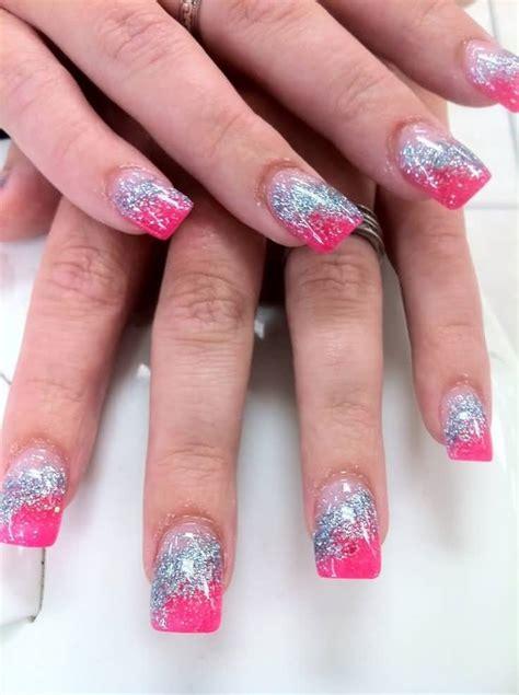 pink glitter acrylic nail designs 60 best pink acrylic nail art designs