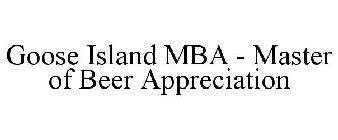 Goose Island Mba Card logo with orange crown logo logos database
