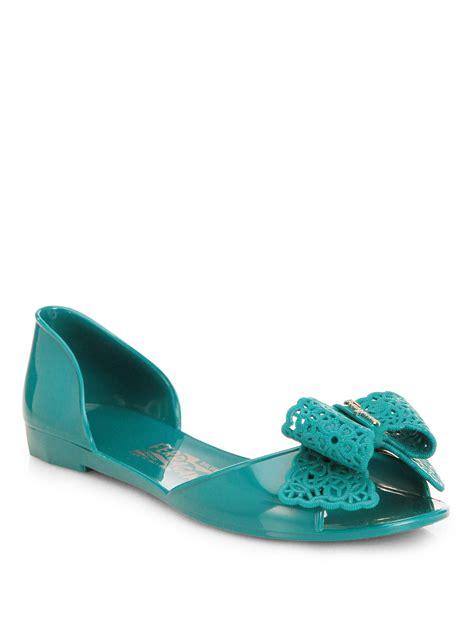 New Flat Jelly Shoes Elegan Sepatu Jelly Flat Slip On Shoes Keren ferragamo preita jelly bow dorsay flats in green lyst