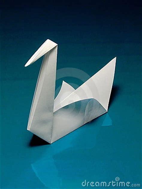 Japanese Origami Swan - origami swan stock image image 4293511