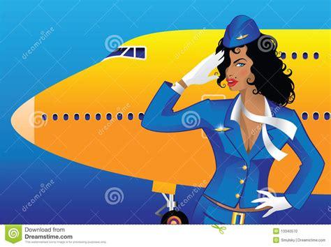 Free Cabin Plans flight attendant stock photo image 13340570