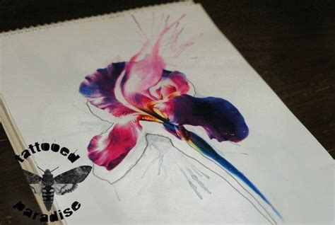 watercolor tattoos bristol iris flower watercolor artist aleksandra