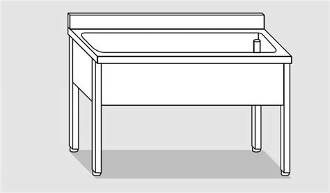 Linea Sink Le 40 40 25 eug1176 12 lavapentole su gambe eco cm 120x60x85h tutta vasca