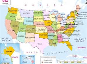 view of the united states map maps of united states of america