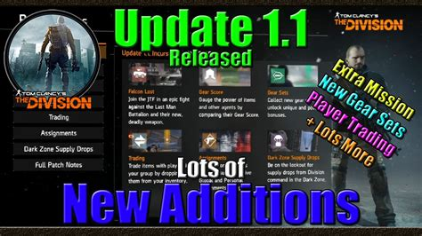 Gear Set R New 1 tom clancy s the division update 1 1 mission