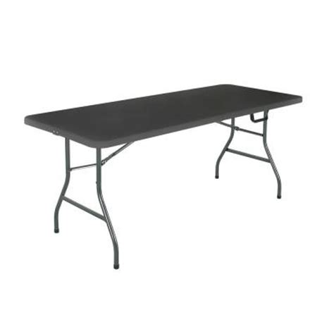6 folding table home depot cosco 6 ft molded center folding table in black