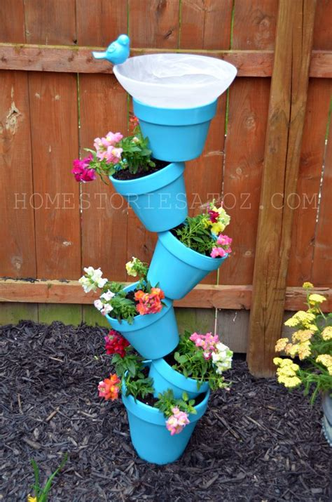 diy garden planters diy garden planter birds bath home stories a to z