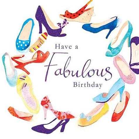 birthday card glitter shoes design large square size 6.25