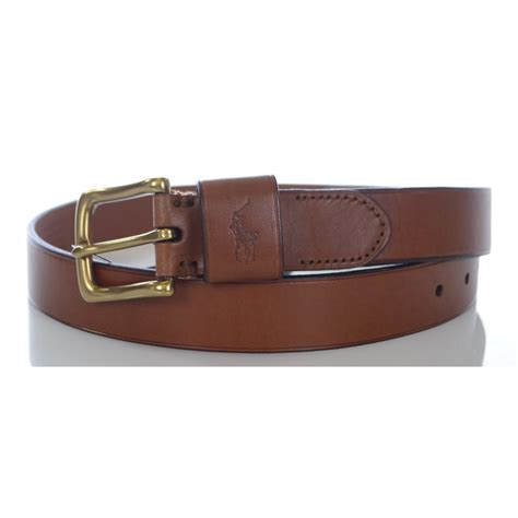 polo ralph brown leather belt polo ralph