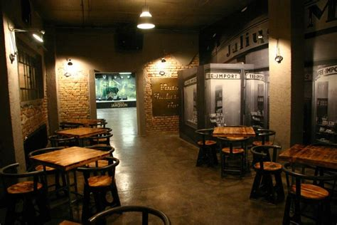 vintage industrial bar nightlife in zagreb