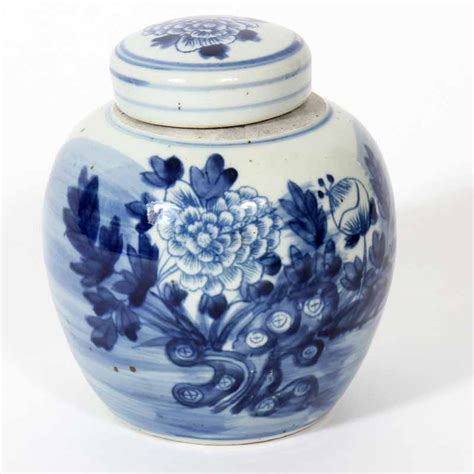 jar ginger chinese export blue and white ginger jar