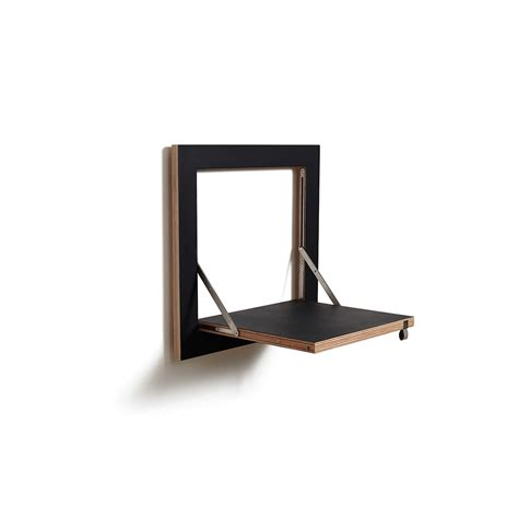 Single Shelf by Buy Ambivalenz Flapps Single Folding Shelf Black 40x40