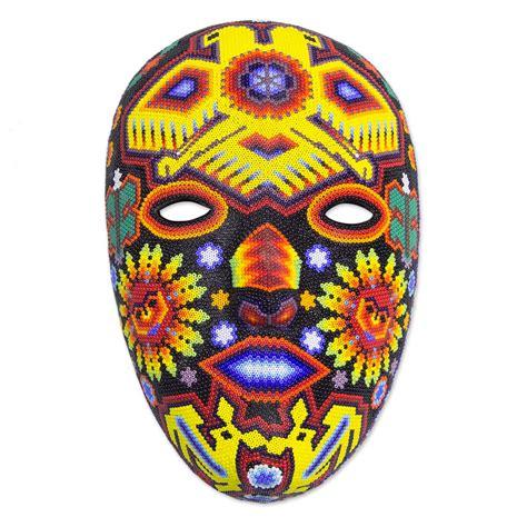 Mask Handmade - authentic huichol beaded eagle mask duality of the