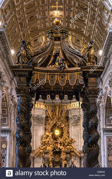Baldacchino Di Bernini by Baroque Canopy Baldacchino And Apse Gloria By Bernini