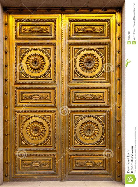Golden Door by Golden Antique Door Royalty Free Stock Image Image 29257336