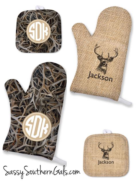 personalized mens gift oven mitt mens gift gift for him