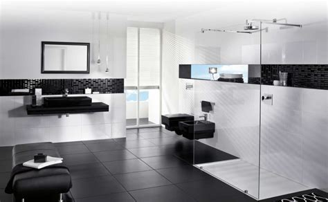 modern black and white bathrooms cool black and white bathroom design ideas