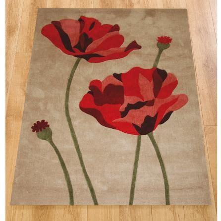Nice Soft Rugs For Living Room #1: C8ba56082d78a5a51f7bf5f58d0cf3a8--bedroom-rugs-red-poppies.jpg